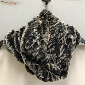 Saks Fifth Avenue Rabbit Fur Infinity Scarf